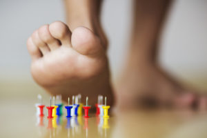 peripheral neuropathy pain like stepping on needles